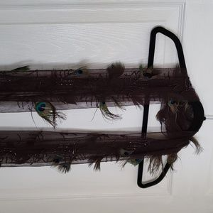 🚨RARE🚨🦚Peacock feathered Scarf🦚